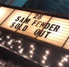 sam fender sold out